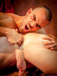 Damien Crosse fucks Christopher Daniels hard in Part 3 of Men.com series Gay of Thrones.