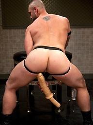 Craig Reynolds plays with a huge dildo