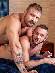 Body Builder Austin Wolf flip fucks with Tatted Hunk, Tyler Wolf