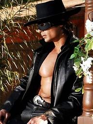 Brunette hoittie Steph as Zorro